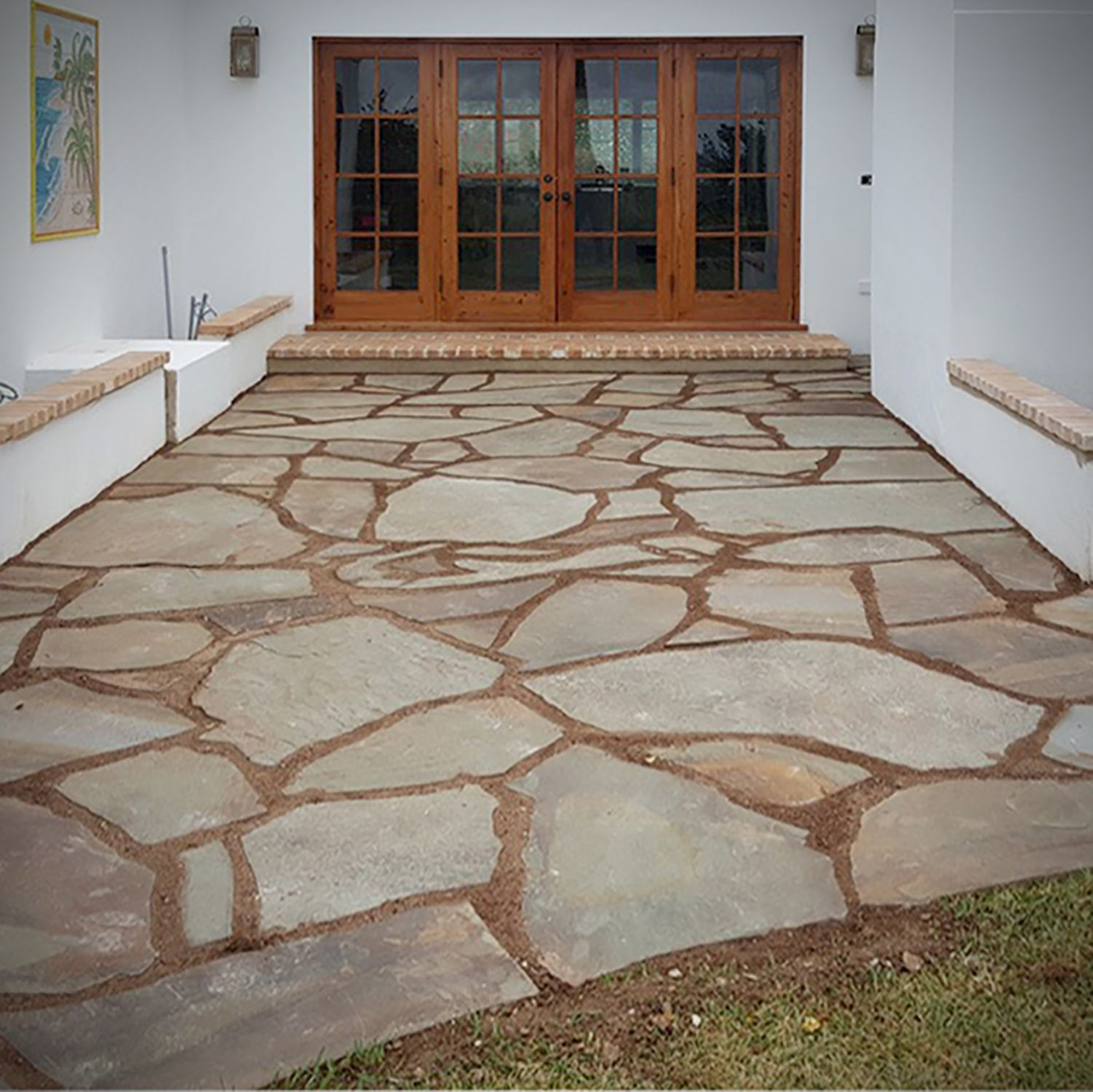 Bluestone Flagstone Pathway & Patio Stone Entry - Natural Stone Pavers & Landscape Stone