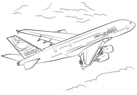 ausmalbilder flugzeuge kostenlos ausdrucken