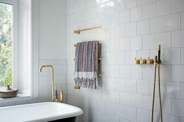 Gouden kraan in de badkamer eenig wonen goud pinterest