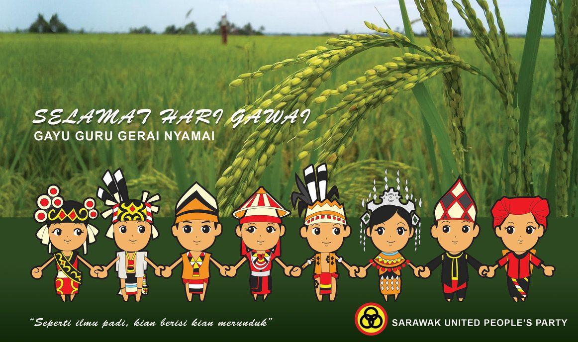Sticker Happy Gawai Raya