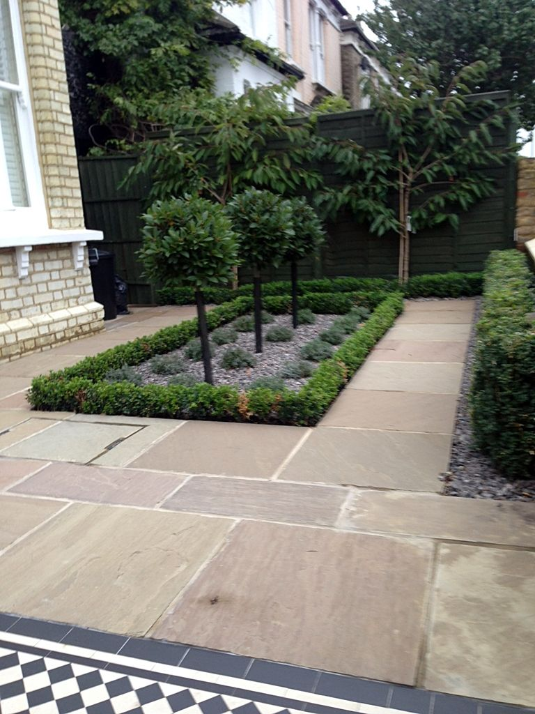 formal front garden design balham london Front garden design