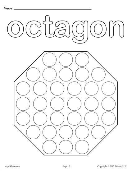 12 Shapes DoADot Printables