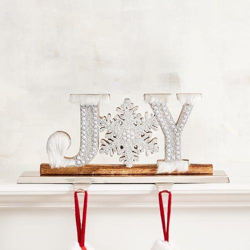 Joy Double Stocking Holder | Stocking holders, Unique ...
