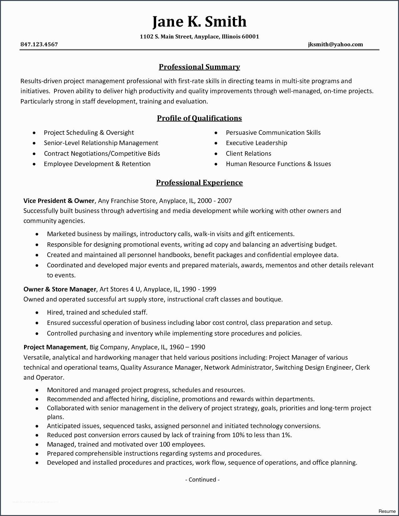 coolresume format for operations profile unique internal