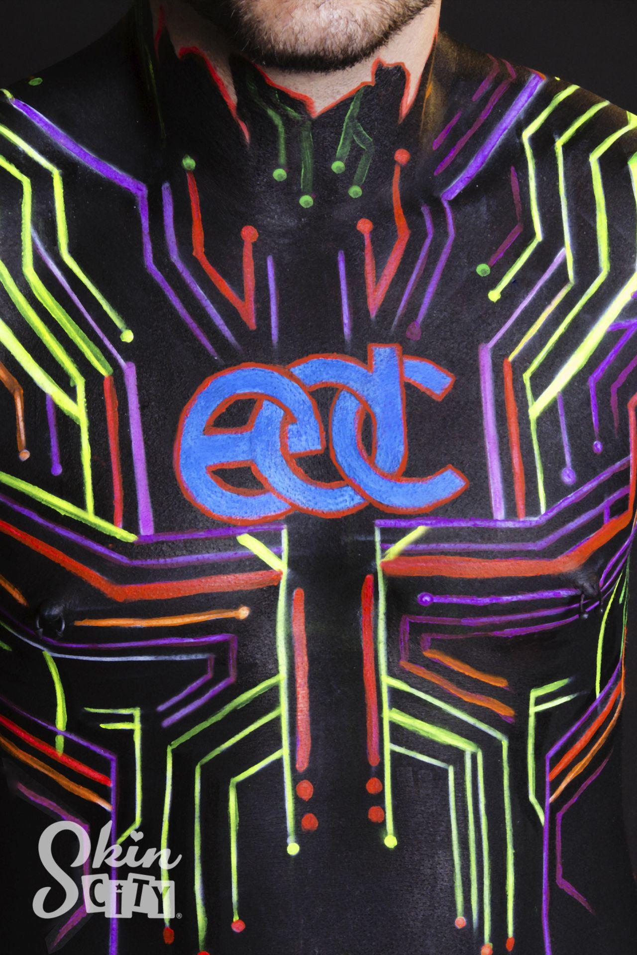 Neon Body Paint Face Make Festival Bright Violet Glow Me Up Stick Uv Paint