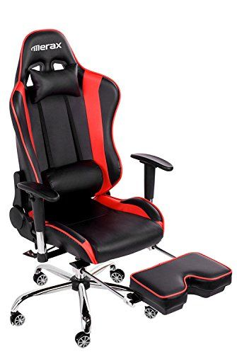 Merax And Tall Back Erogonomic Racing Style Computer Gaming Office Chair Adjule Black