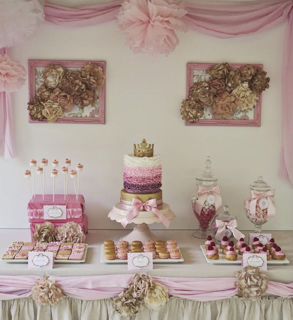 DIY Shabby Chic Big or Little Princess Birthday These pins