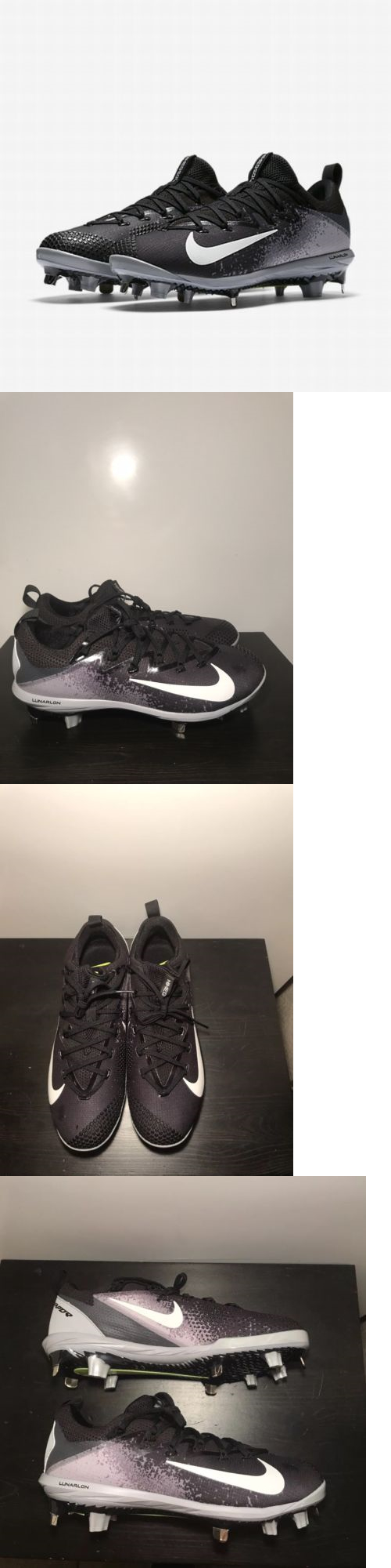 7986234110cb Mens 159059: Nike Lunar Vapor Ultrafly Elite Metal Baseball Cleats Size 9.5  Black Grey -