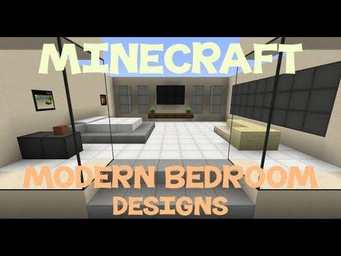 Minecraft Modern Bedroom Designs Modern Bedroom Design Modern
