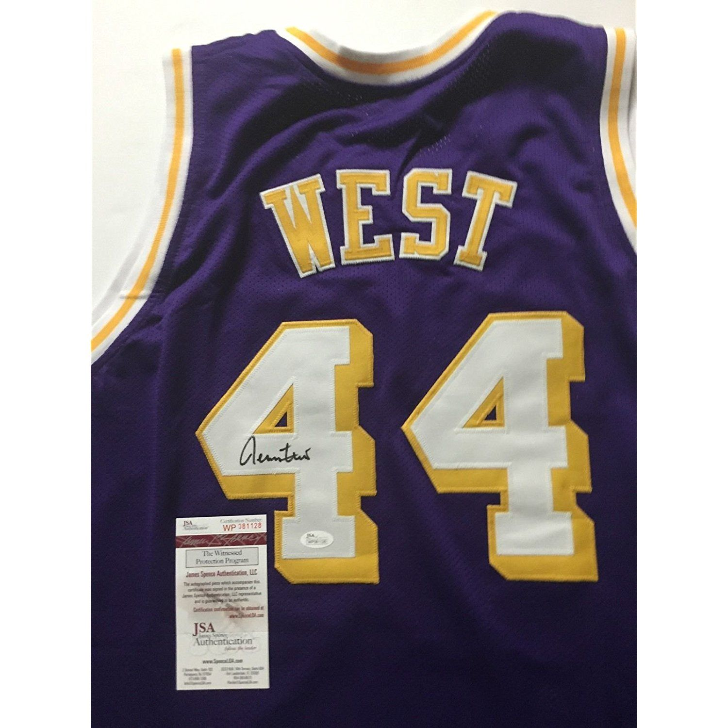 ec7cb65e4 Autographed Signed Jerry West Los Angeles LA Lakers Purple Basketball Jersey  JSA COA   Check this awesome product by going to the link at the image.