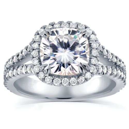 Cushion-cut-Moissanite-and-Halo-Diamond-Engagement-Ring-2-1-2-carat-ctw-in-14k