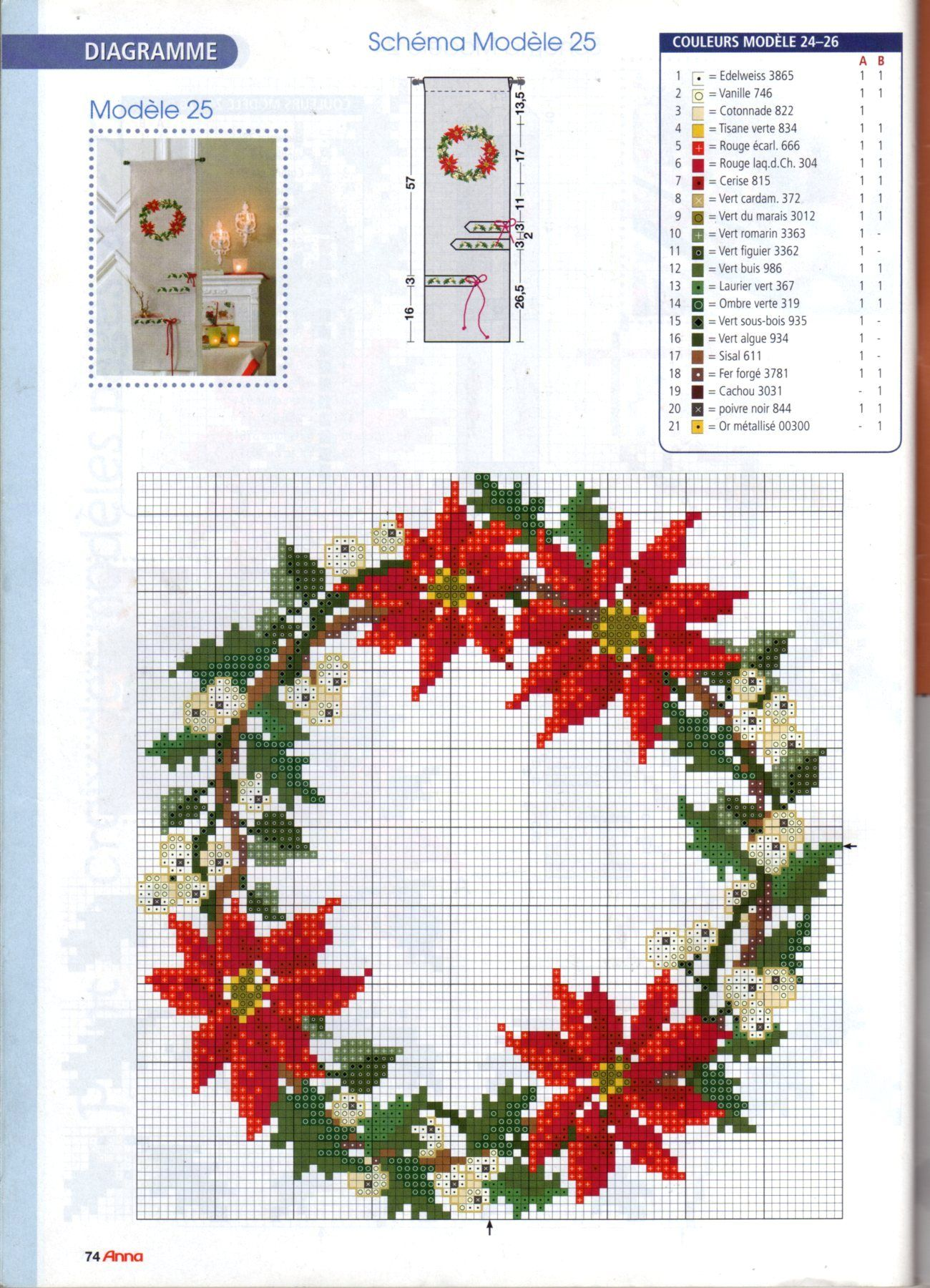 Cross Stitch *♥*Wreaths | Bordados | Pinterest | Punto de cruz ...