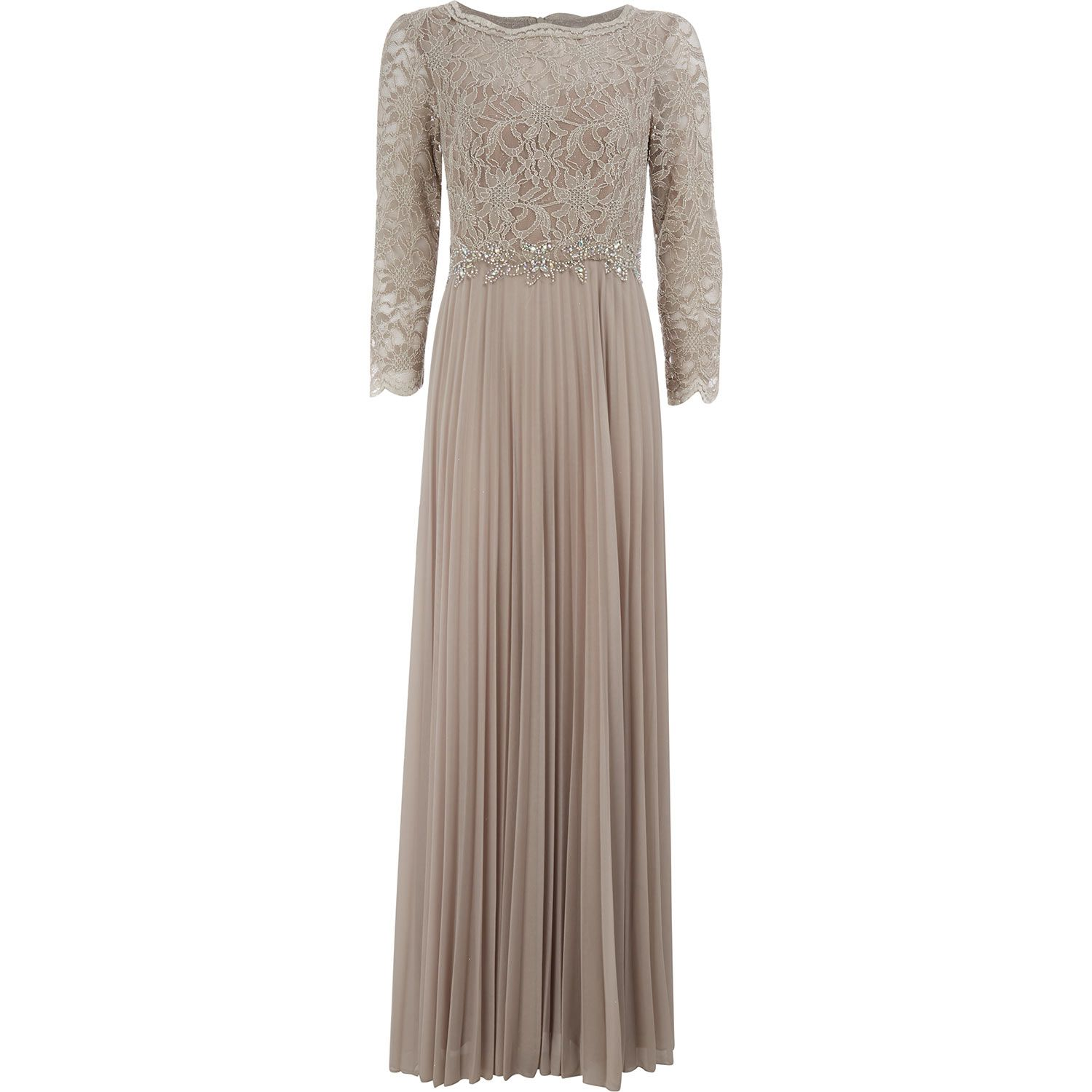 Cachet Taupe Lace Occasion Dress