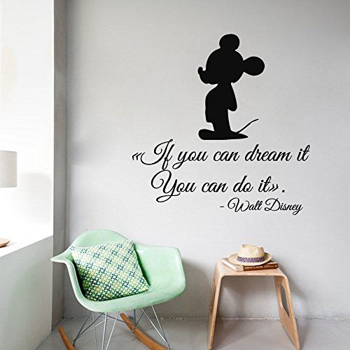 Disney Mickey If You Can Dream It Do It Wall Quote Vinyl Wall Decal Sticker
