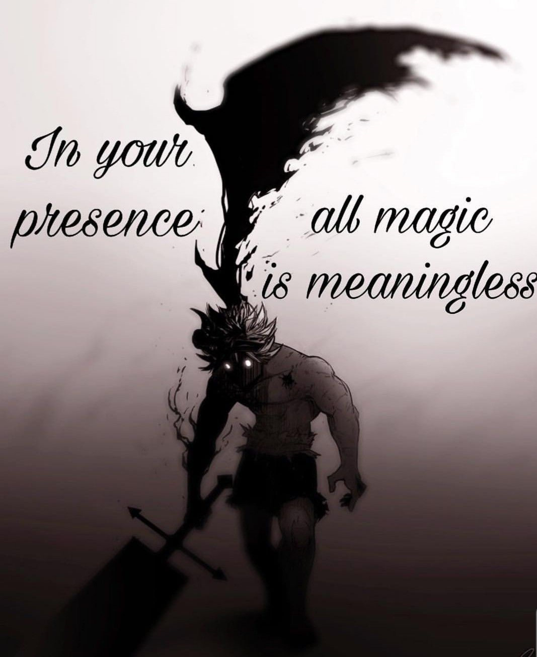 In Your Presence All Magic Is Meaningless Black Clover Manga
