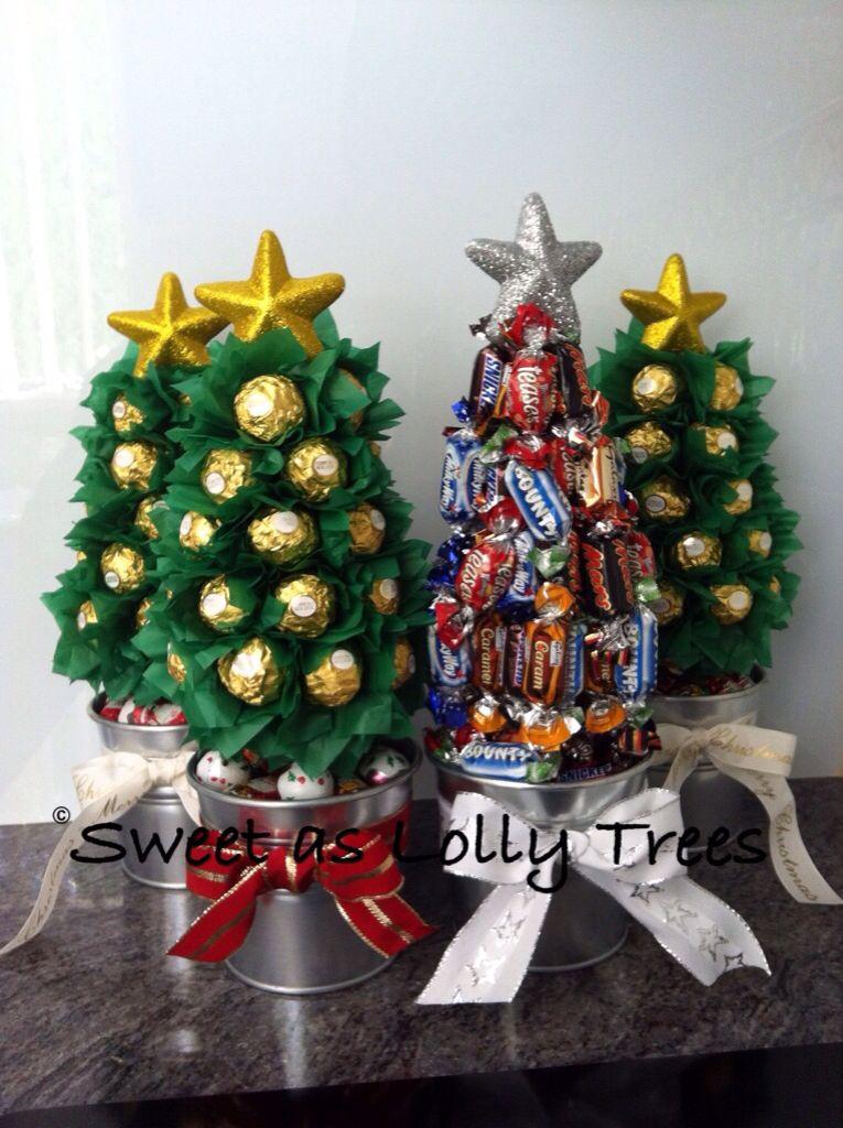 Christmas Lolly Trees Christmas Candy Crafts Christmas Candy Gifts Xmas Crafts