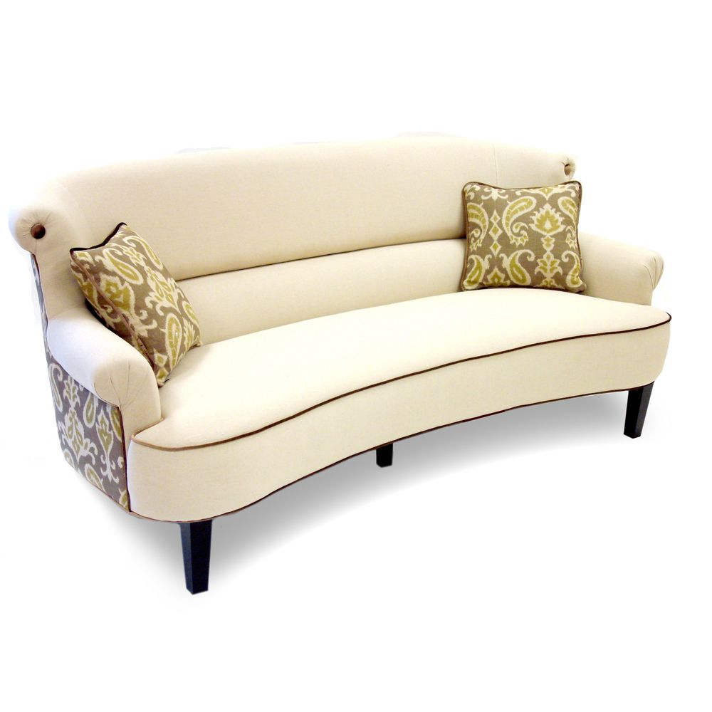 Sofa Dreams Outlet Ikat Cream Curved Back Sofa Overstock House Dreams