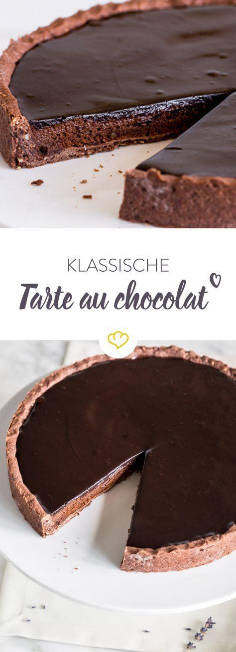 Tarte au chocolat – französische Schokoladentarte #schokokuchen