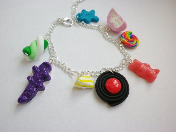 noel bracelet bonbons  multicolores  bijou gourmand par fimorelie