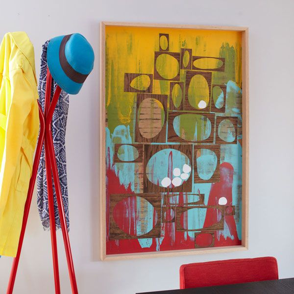 How To Make This Plywood Wall Art Using Paint A Squeegee
