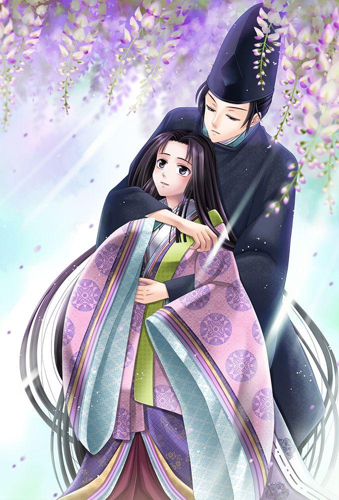 源氏物語 genji monogatari illustrated by http www pixiv net member php id 870453 イラスト 藤の花 日本
