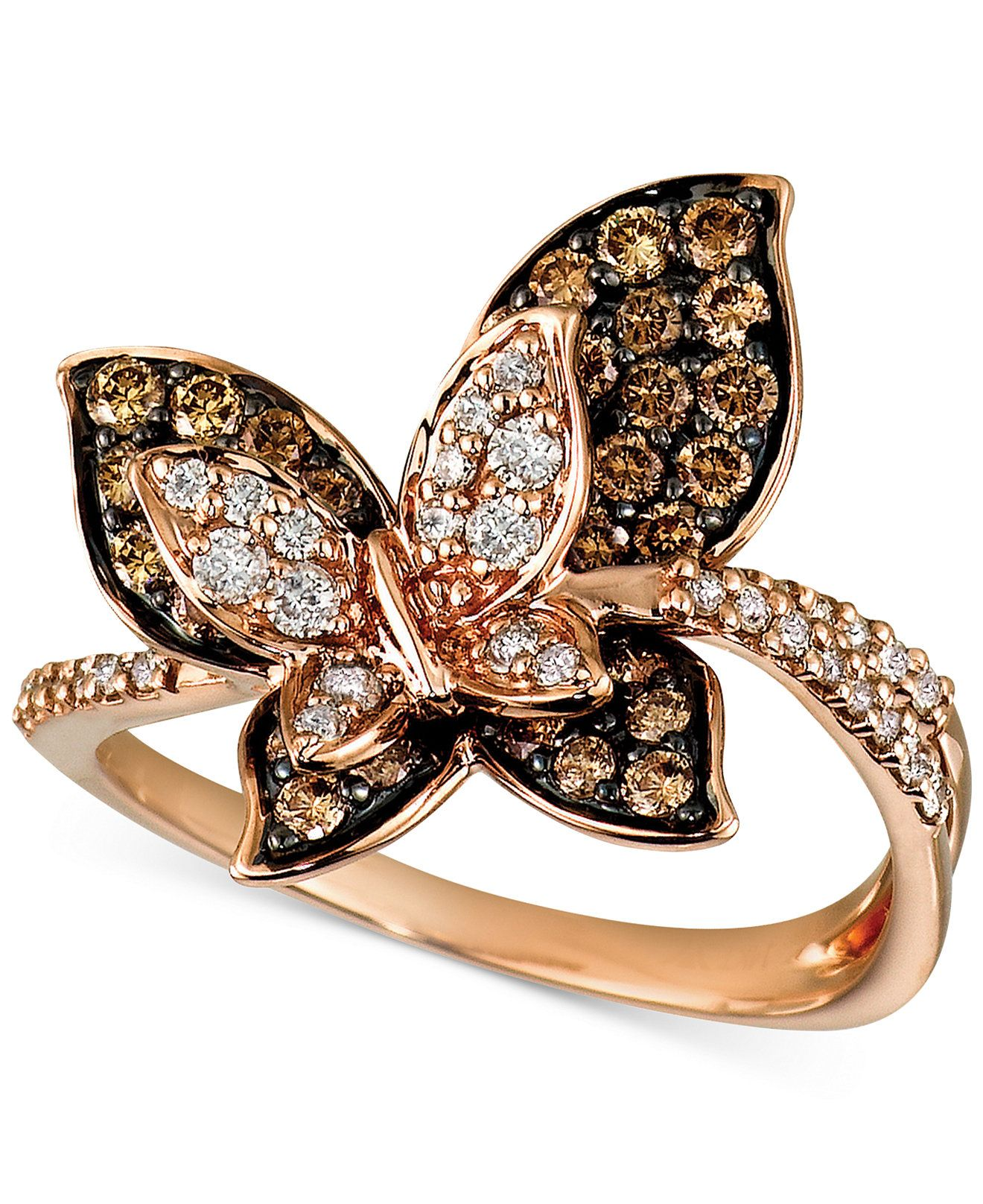 A butterfly flutters by...Le Vian Chocolate Diamonds® and Vanilla ...