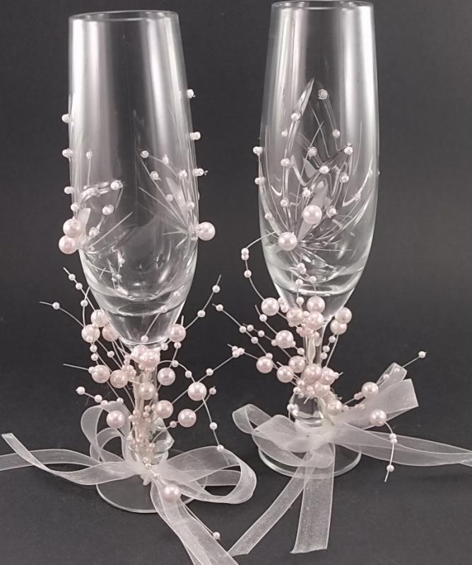 Compro copas de boda boda pinterest wedding glasses - Como decorar copas para boda ...