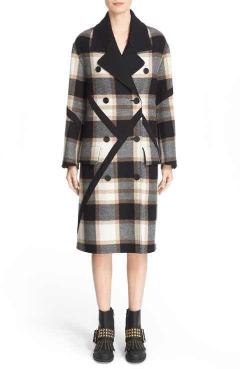 Burberry Tartan Plaid Wool Coat