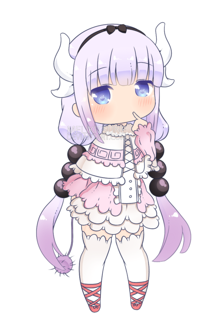 Kanna By Melikitsune Deviantart Com On Deviantart Anime Maid Miss Kobayashi S Dragon Maid Kobayashi San Chi No Maid Dragon
