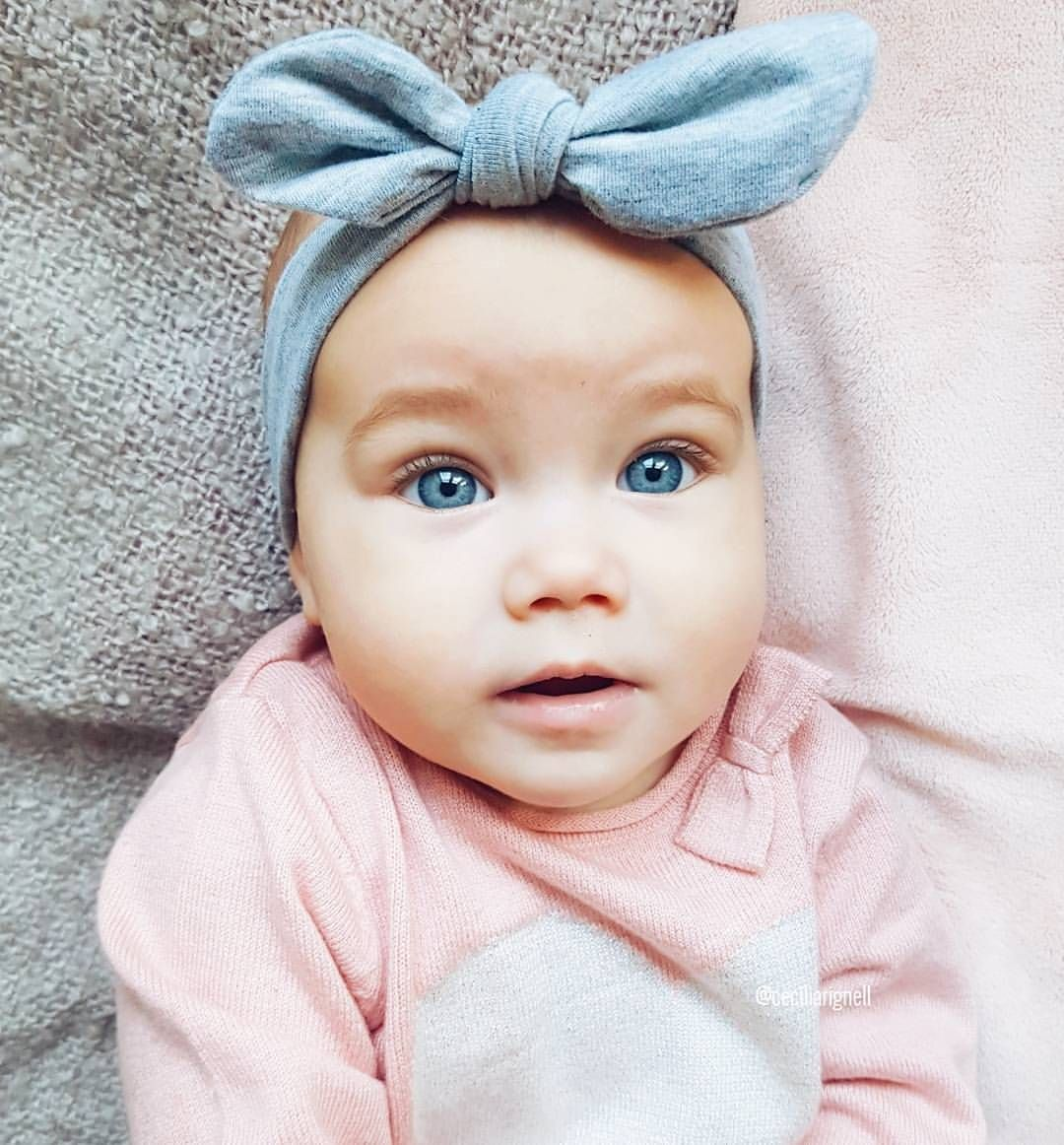 Ava Beautiful Baby Girl With Bright Blue Eyes Baby Girl Blue