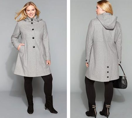 Great coat, love the color, buttons front back and sleeves, hood ...