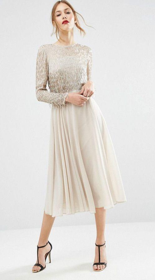 ASOS Embellished Tassel Midi Dress (With images) | Long ...