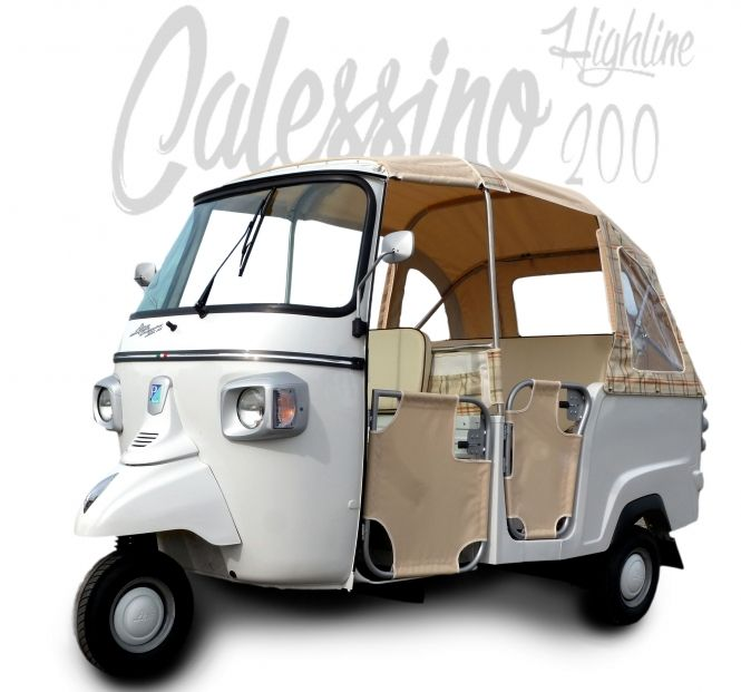 ape calessino 200 weiss sondermodell highline piaggio. Black Bedroom Furniture Sets. Home Design Ideas