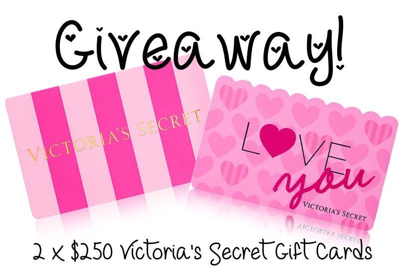 Huge double giveaway 250 victorias secret gift cards
