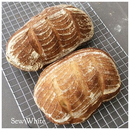 Sew White sourdough baking