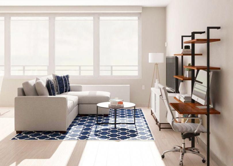 Work From Home 9 Places To Put An Office In The Living Room Desk In Living Room Living Room Office Combo Living Room Workspace