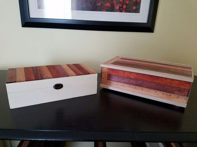 ruler boxes how to update a box using rulers, home decor, how to, storage ideas