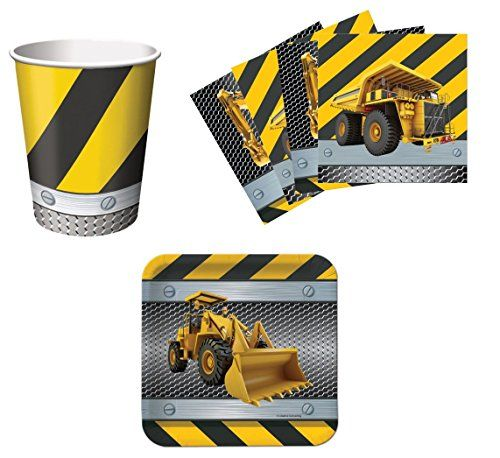 Construction Zone Birthday Party Supplies Set Plates Napkins Cups Kit for 16 Creative Converting http://www.amazon.com/dp/B00L1QA2MS/ref=cm_sw_r_pi_dp_XREYtb0YY4CZEW16