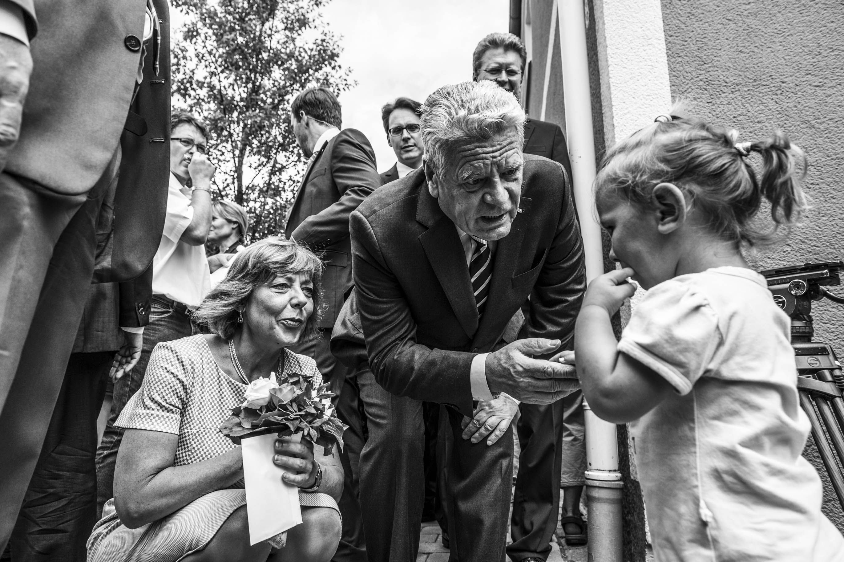 Joachim Gauck visiting Deggendorf