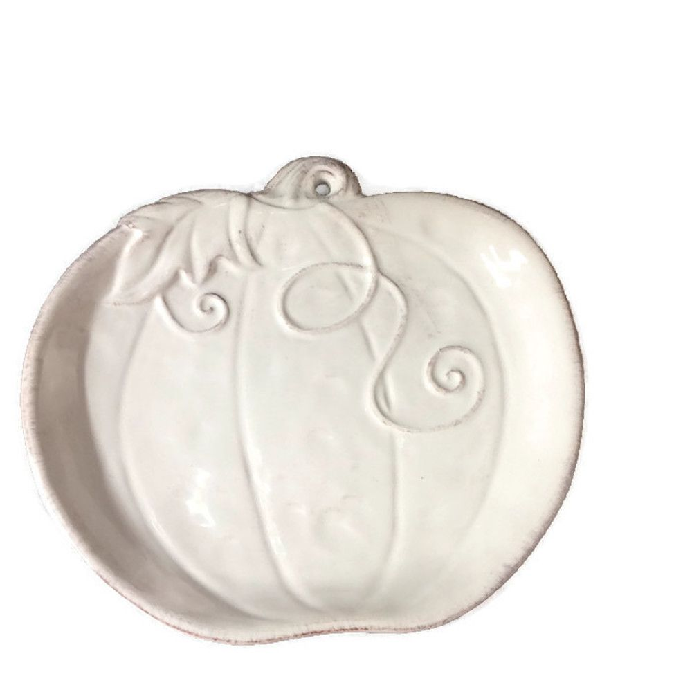 Giftcraft Chalk White Holiday Pumpkin Plate - Mirranme ...