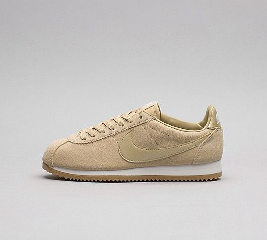 finest selection 5b8ca f415b Nike Womens Classic Cortez Suede Trainer   Mushroom   White   Footasylum