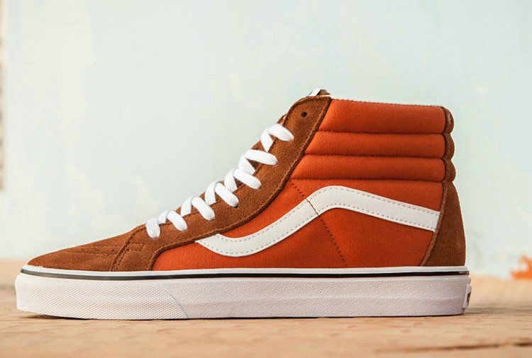 0a83dbda41 Vans SK8 Hi Brown Orange Suede High Top Skate Vans For Sale  Vans ...