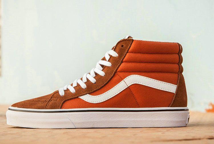 Vans SK8 Hi Brown Orange Suede High Top Skate Vans For Sale  Vans ... 35aa7db10