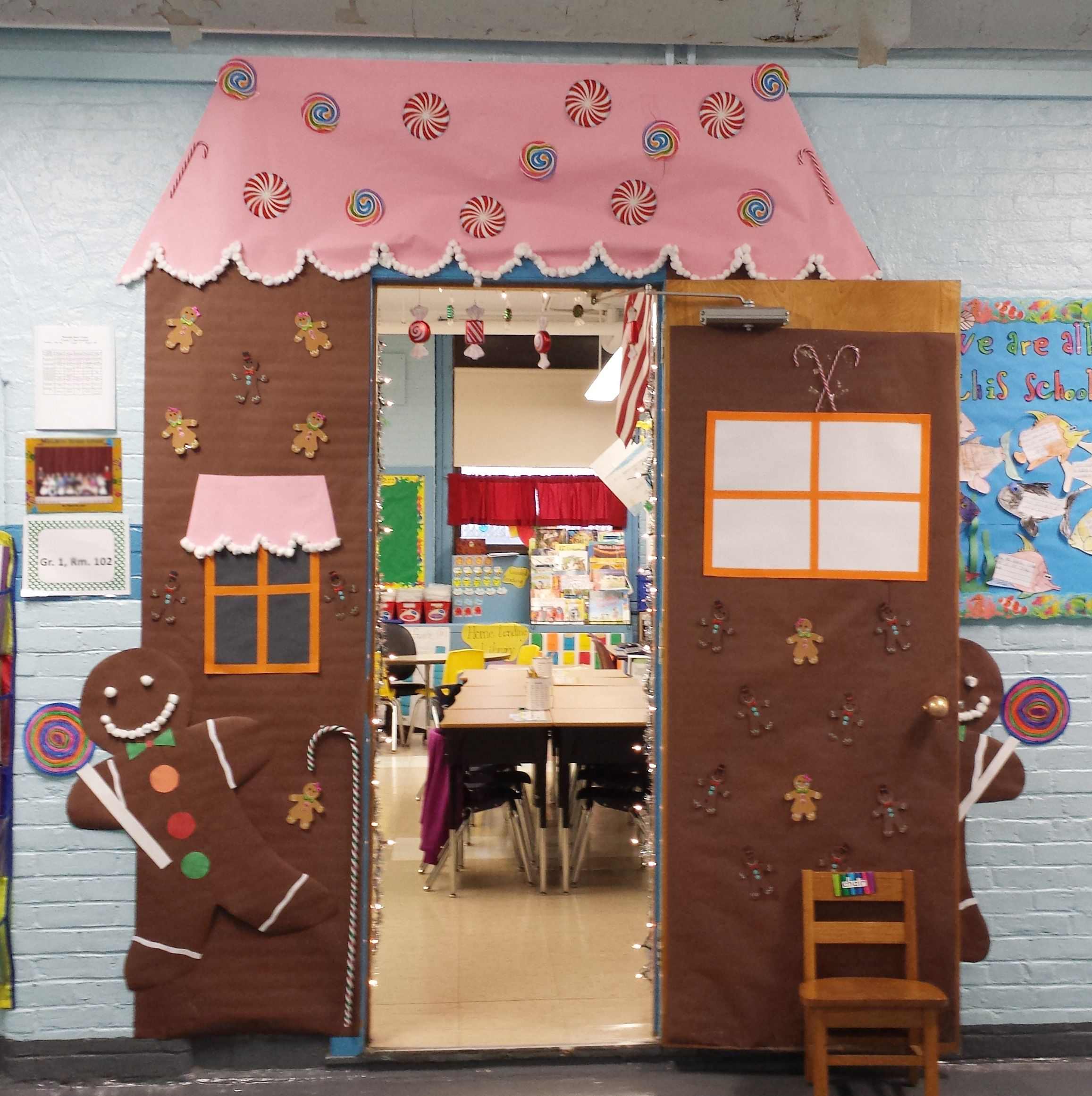 Gingerbread House I Made For Christmas Door Decorating In 1st Grade