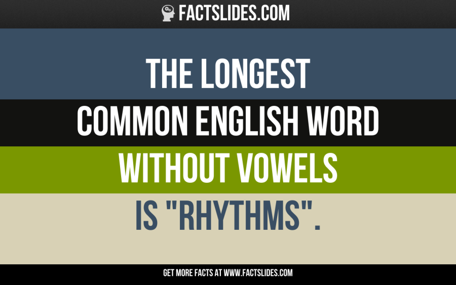 The Longest Common English Word Without Vowels Is Rhythms Jai