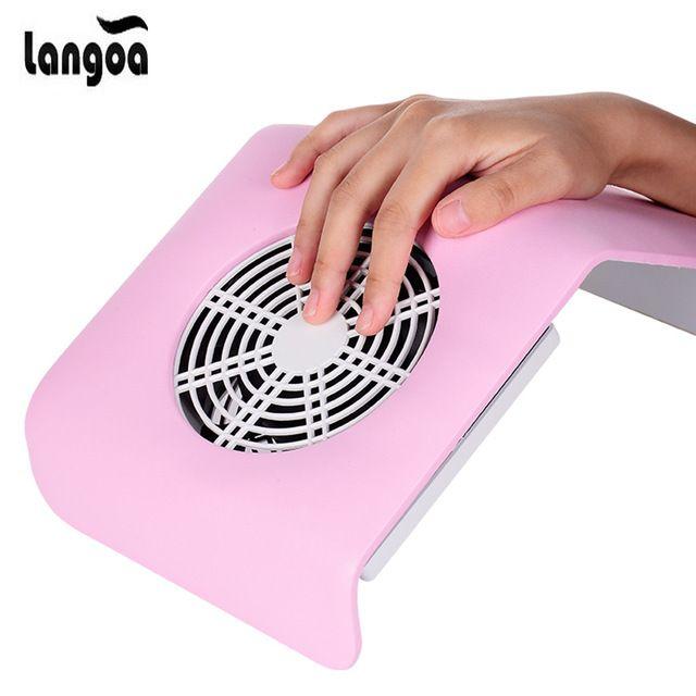 110V/240V EU/US Plug Nail Art Salon Suction Dust Collector Manicure ...