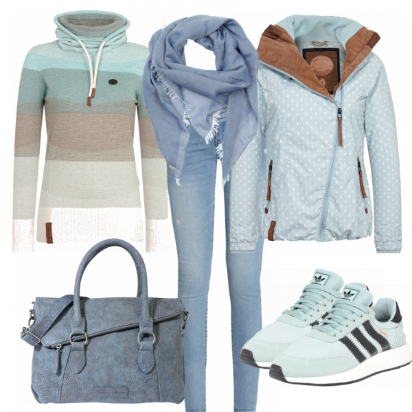 Winter Outfits Hellblau Bei Frauenoutfits De Outfit In