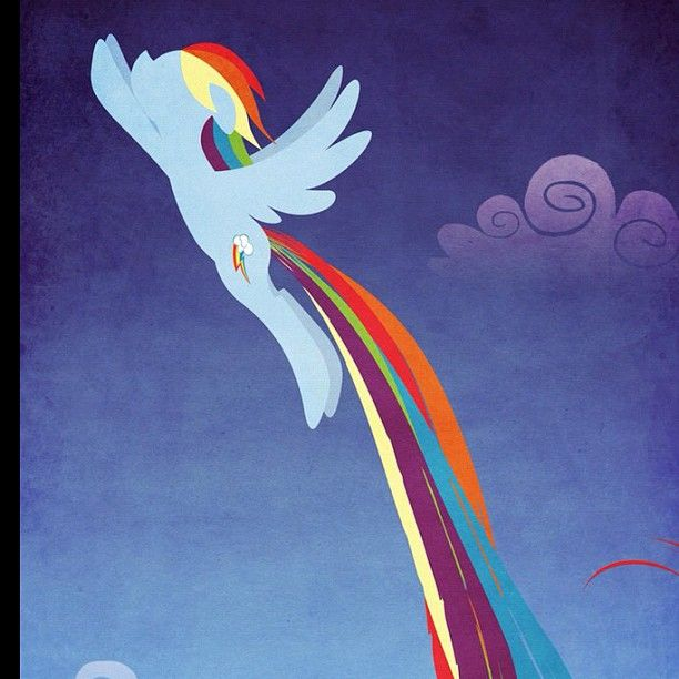 Rainbow Dash takes flight