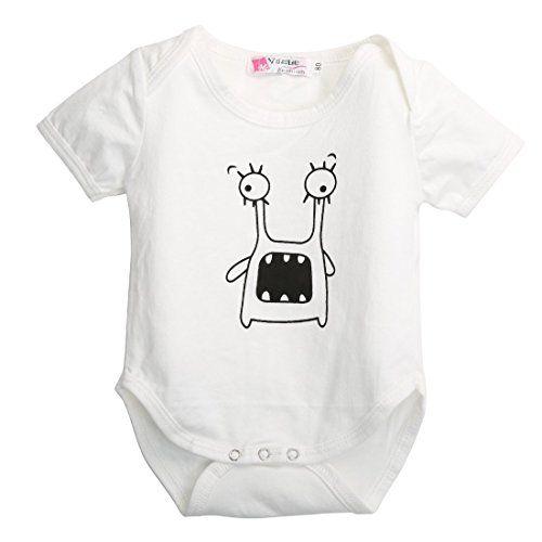 ca8a76de4 Cute Newborn Baby Kids Summer Clothes Little Monster Pattern Romper ...