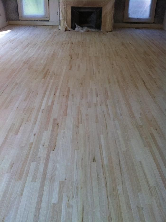 Scandi Whitewashed Floors Before And After Red Oak